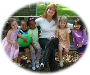 Mrs. Susan with Laila, Gab, Trey, Sarah, and Nicole